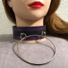 Collier En Latex Glam-Anneau Purple